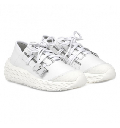 GIUSEPPE ZANOTTI URCHIN LOW TOP WHITE LEATHER SNEAKERS- 739AW19/20