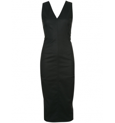 RICK OWENS FITTED V NECK DRESS - 103SS18
