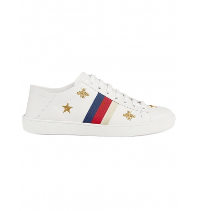 GUCCI ACE SNEAKER WITH BEES AND STARS - 128SS18