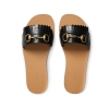 Gucci Fringe leather Horsebit slides - 161SS18