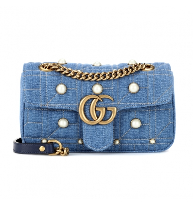 Gucci GG Marmont denim shoulder bag - 173SS18