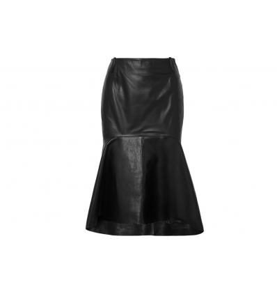 Balenciaga fluted leather skirt - 292SS19