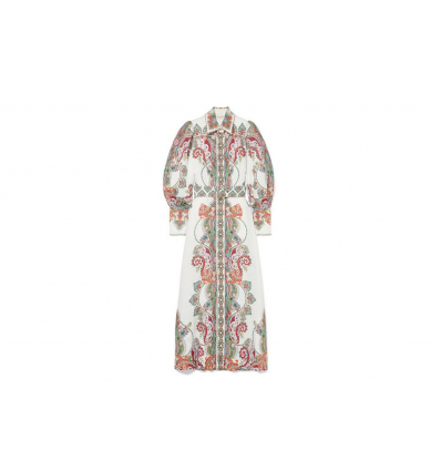 Zimmermann Ninety-Six belted printed linen maxi dress - 318SS19