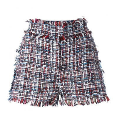MSGM fringed trim shorts