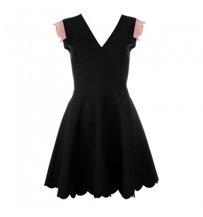 MSGM V-neck scallop dress