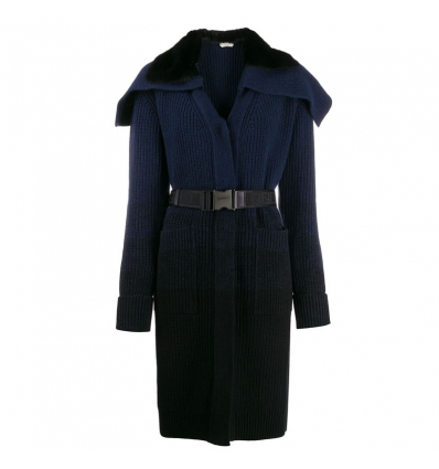 FENDI long belted knitted coat - 642AW19/2