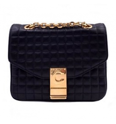 CELINE BLACK C BAG - 758AW19/20