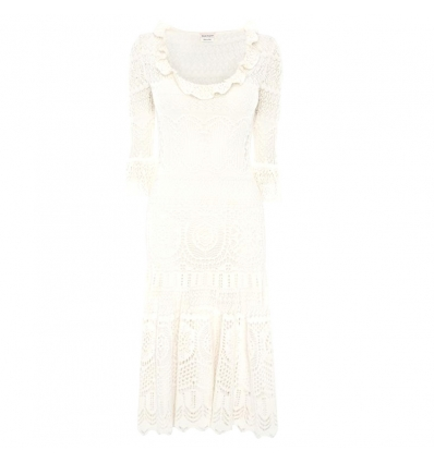 ALEXANDER McQUEEN ENGINEERED LACE KNITTED DRESS - 813ASS20