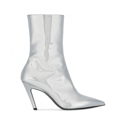 Balenciaga metallic booties