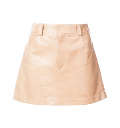 Chloe leather mini skirt