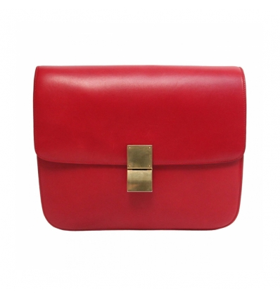 CELINE CLASSIC BOX LEATHER - RED - 90SS18
