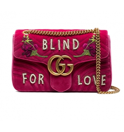 Gucci Velvet Shoulder Bag - 127SS18