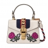 Gucci Sylvie embroidered mini bag - 152SS18