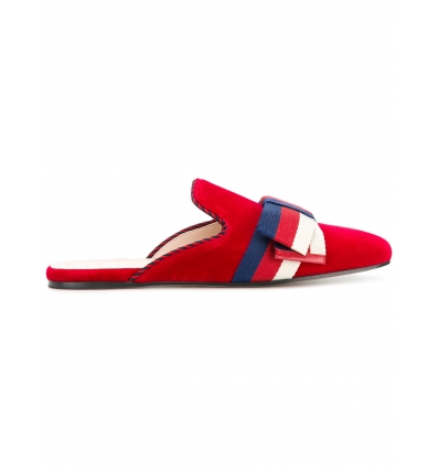 Gucci Sylvie Web bow slippers - 153SS18