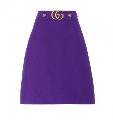Gucci Wool and silk A-line skirt - 169SS18