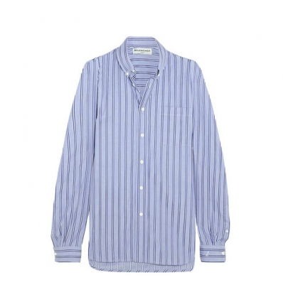 Balenciaga Striped cotton-poplin shirt - 20SS17