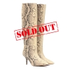 YEEZY Embossed leather boots - 238W1819