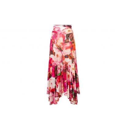 MSGM pleated floral skirt - 337SS19