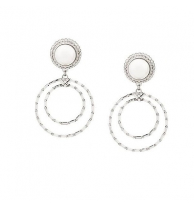 ALESSANDRA RICH circle drop earrings - 365SS19