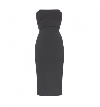 RICK OWENS strapless fitted cotton blend dress - 412SS19