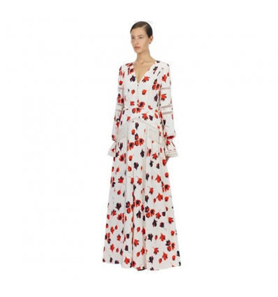 SELF PORTRAIT bold floral print maxi dress - 416SS19
