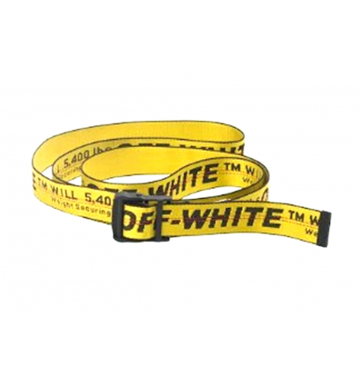 Off White yellow industrial belt - 362SS19