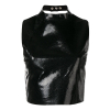 MANOKHI CARRIE black leather top - 478SS19