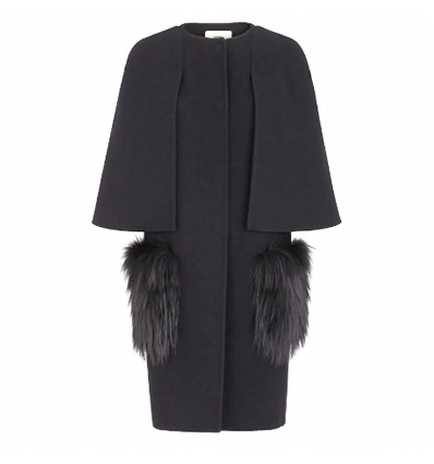 FENDI Black wool coat - 487AW19/20