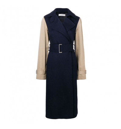 Victoria Beckham contrast sleeve fitted coat - 513AW19/20