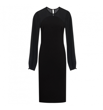 Victoria Beckham Sheer Sleeve Fitted Dress - 520AW19/20