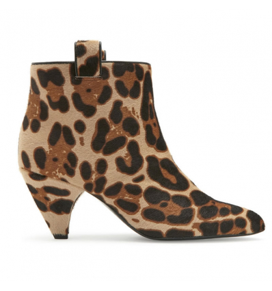 Laurence DaacadeTerence Leopard Print Calf Black Bootie - 527AW19/20