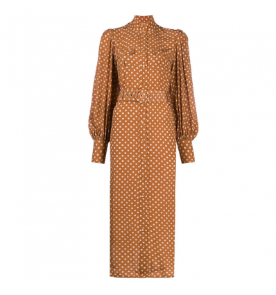 ZIMMERMANN polka-dot print silk dress - 681AW19/20
