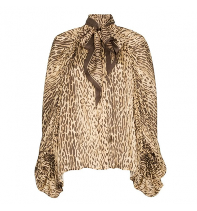ZIMMERMANN pussy-bow animal print blouse - 682AW19/20