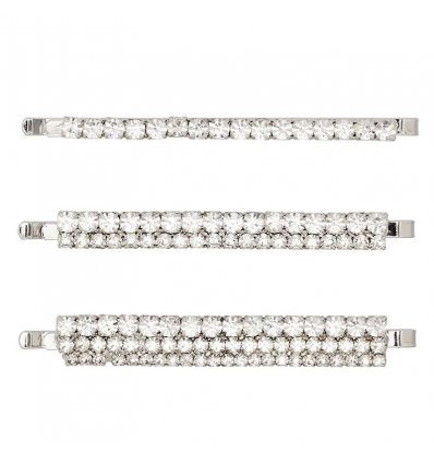 ALESSANDRA RICH set of three crystal-embellished hair slides - 725AW19/20