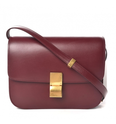 CELINE CLASSIC BOX BAG BURGUNDY - 763AW19/20