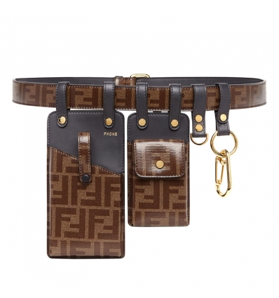 FENDI Brown fabric belt - 767AW19/20