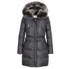 LEMPELIUS SEMI-FITTED DOWN PARKA WITH FAUX FUR HOOD IN CARBON GREY - 774AW19/20