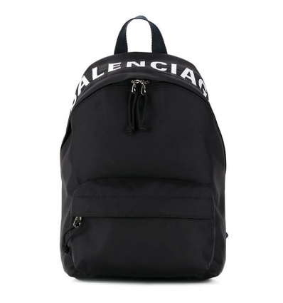 BALENCIAGA Wheel logo print backpack - 783AW19/20