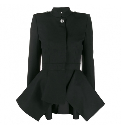 ALEXANDER MCQUEEN draped peplum military jacket - 796AW19/20