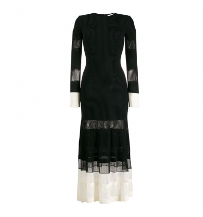 ALEXANDER MCQUEEN OTTOMAN KNITTED DRESS - 780AW19/20