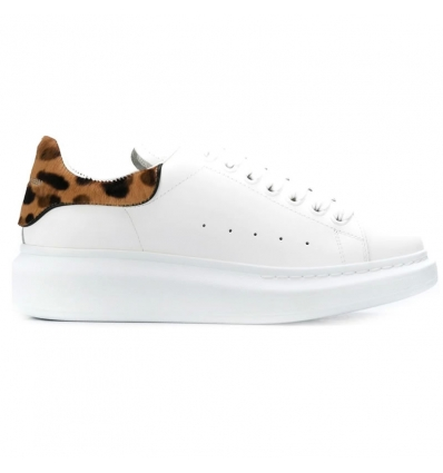 ALEXANDER MCQUEEN leopard print oversized low-top sneakers - 807AW19/20