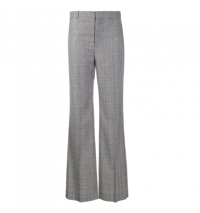 BALENCIAGA flared checked trousers - 977ASS20