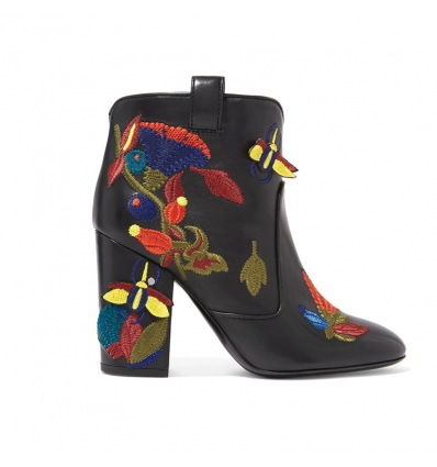 Laurence Dacade Pete embroidered leather boots - 11AW1718