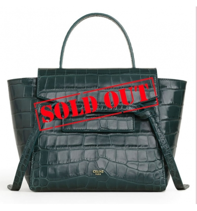CELINE AMAZONE NANO BELT BAG IN CROCODILE EMBOSSED CALFSKIN - 823ASS20