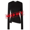 PACO RABANNE Black top draped in jersey - 867ASS20