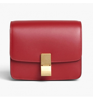 CELINE RED CLASSIC BAG IN BOX CALFSKIN - 1064ASS20