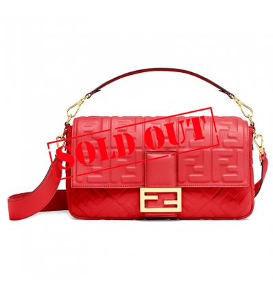 FENDI BAGUETTE RED LEATHER BAG - 840ASS20