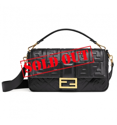 FENDI BAGUETTE BLACK LEATHER BAG - 839ASS20