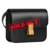 CELINE TEEN CLASSIC BAG IN BOX CALFSKIN BLACK - 828ASS20
