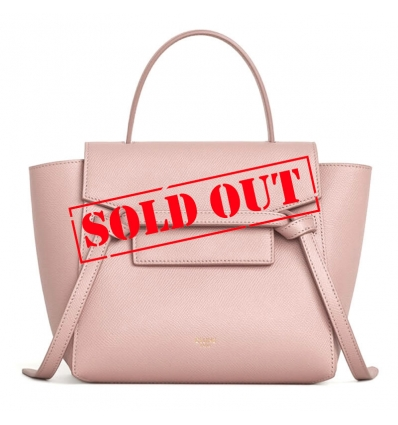 CELINE MICRO BELT BAG IN GRAINED CALFSKIN VINTAGE PINK - 825ASS20